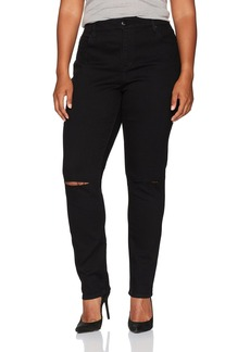 Bandolino Women's Plus Size Mandie Slim 5 Pocket Jean