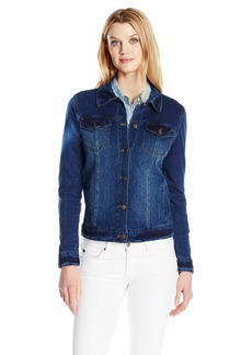 Bandolino Women's Sarah Knit Denim Jacket  M