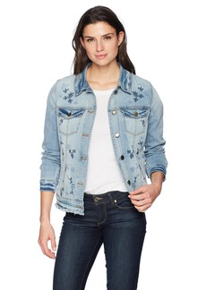 Bandolino Women's Sarah Spring Meadow Denim Jacket with Fray Hem