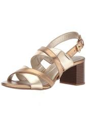 Bandolino Women's STEPA Heeled Sandal Soft Gold/deep Bronze