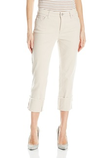 Bandolino Women's Womans Millie Straight Leg Cuffed Capri With Frayed Hem