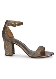 Bandolino Damory Metallic Stack Heel Sandals