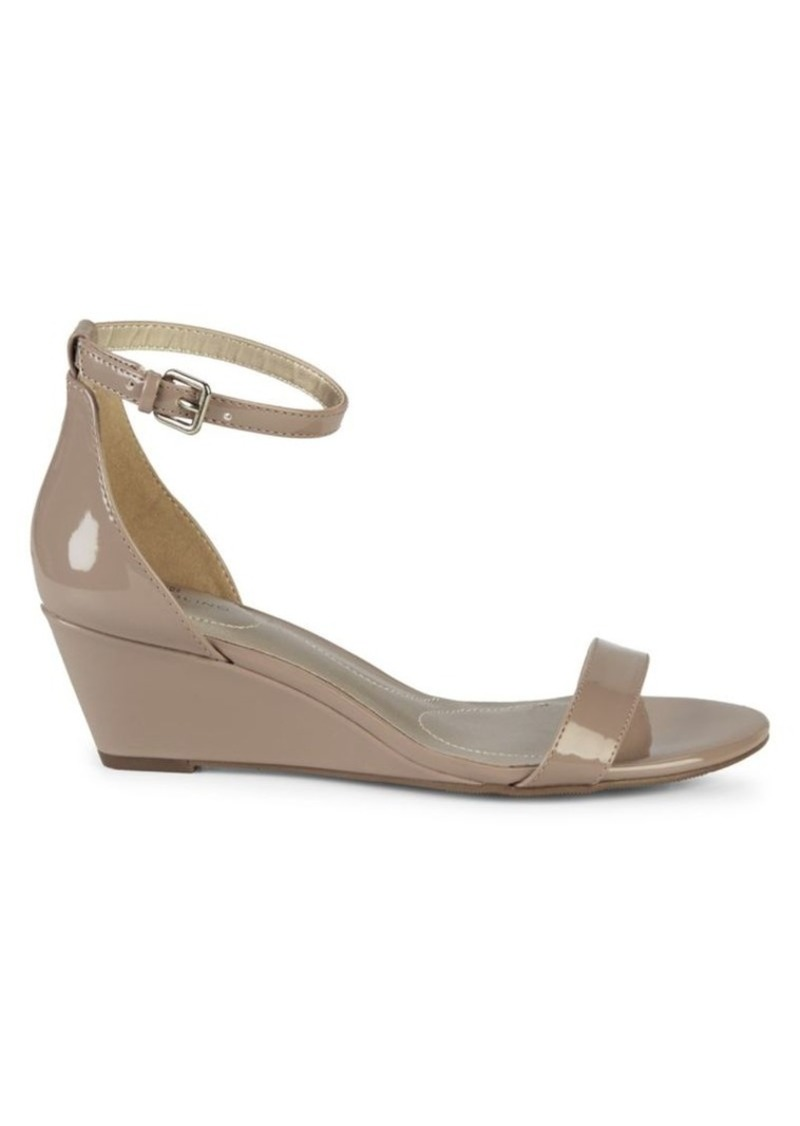 Bandolino Patent Wedge Sandals