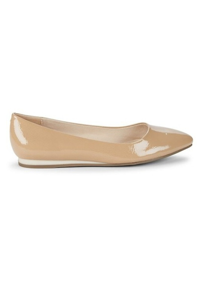 Bandolino Point-Toe Faux Leather Ballet Flats