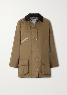 Barbour Alexachung Edith Corduroy-trimmed Waxed-cotton Jacket