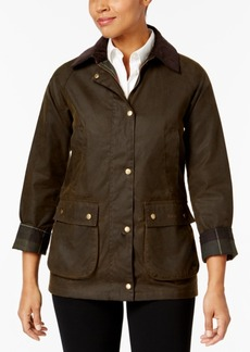 Barbour Acorn Plaid-Lined Water-Resistant Raincoat