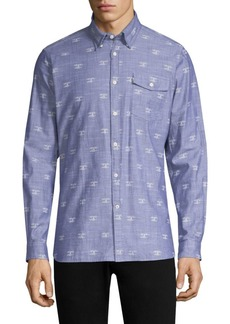 Barbour Beacon-Print Cotton Button-Down Shirt