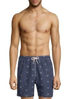 Barbour Beacon-Print Swim Shorts