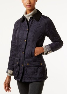 Barbour Beadnell Polarquilt Plaid-Trim Utility Jacket