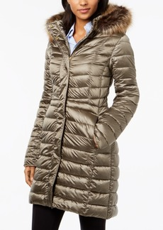 Barbour Berneray Faux-Fur-Trim Quilted Coat