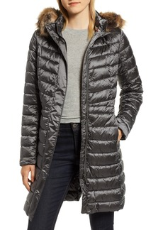 Barbour Berneray Faux Fur Trim Quilted Jacket