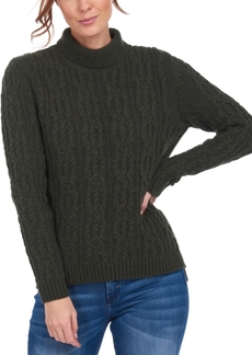 Barbour Burne Cable-Knit Turtleneck Sweater