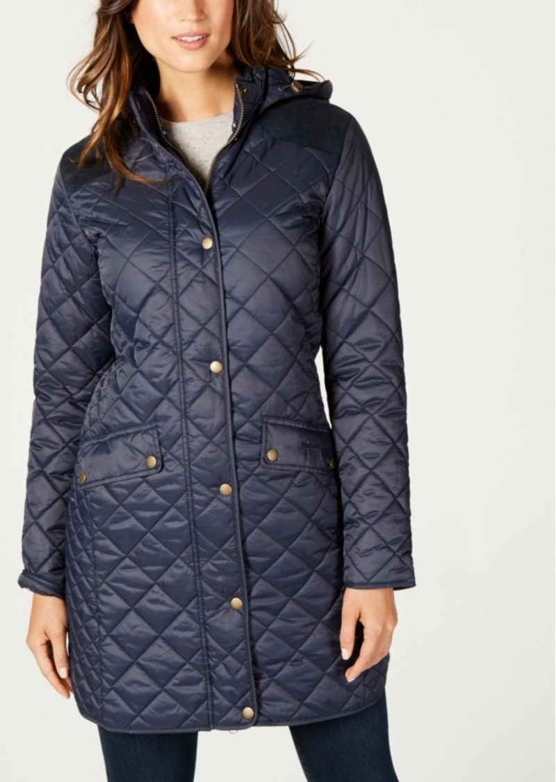 Barbour Burne Hooded Quilted Coat