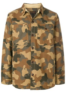 Barbour camouflage button through overshirt - Brown