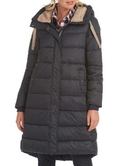 Barbour Cassins Hooded Quilted Coat