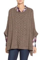 Barbour 'Clover' Cable Knit Poncho