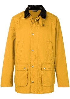Barbour contrast collar Bedale jacket - Yellow & Orange