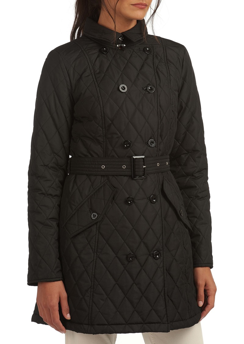 Barbour Cornell Quilted Trench Coat