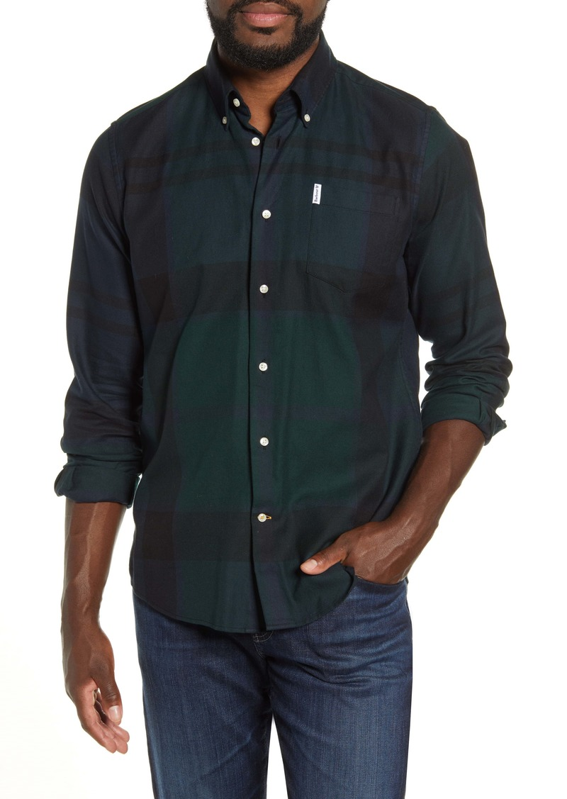 Barbour Dunoon Tailored Fit Button-Down Cotton Shirt