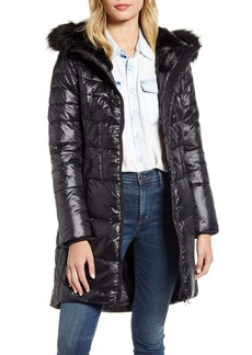Barbour Faux Fur Hood Quilted Coat