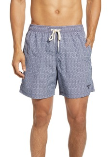 Barbour Geo Print Swim Trunks