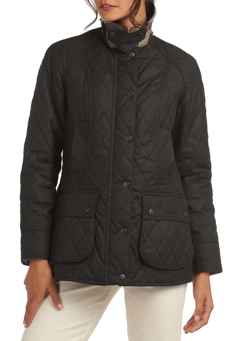 Barbour Re-engineered For Today Gibbon Quilted Waxed Cotton Raincoat
