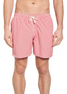 Barbour Gingham Check Swim Trunks