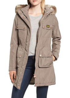 Barbour Imatra Waterproof Jacket with Faux Fur Trim