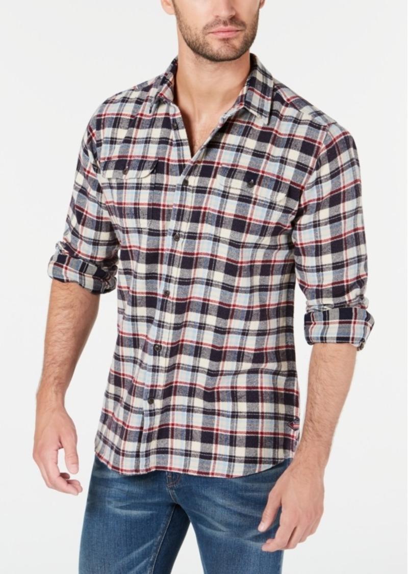 Barbour International Steve McQueen Men's Rick Herringbone Plaid Shirt, Created For Macy's