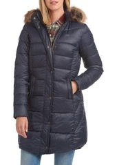 Barbour Jamison Hooded Puffer Parka with Faux Fur Trim