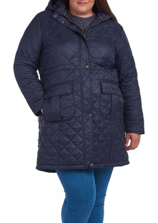 Barbour Jenkins Quilted Hooded Coat (Plus Size)
