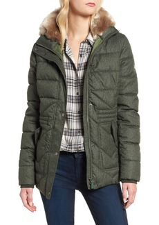 Barbour Langstone Faux Fur Trim Quilted Coat