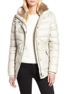 Barbour Langstone Faux Fur Trim Quilted Coat