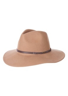 Barbour Leather Braid Wool Fedora