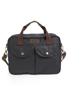 Barbour 'Longthorpe' Waxed Canvas Laptop Bag
