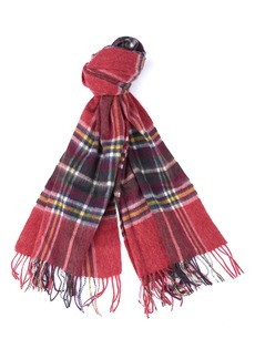 Barbour Lonnen Check Wool Blanket Scarf