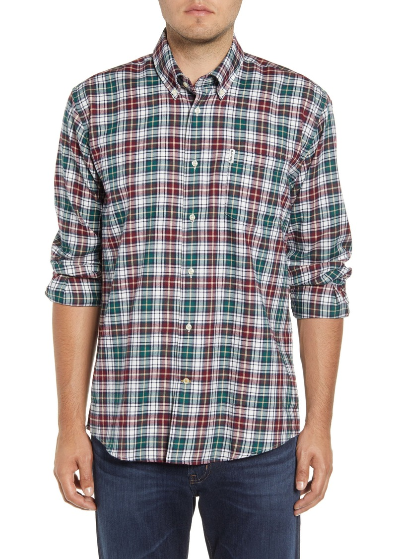 Barbour Lund Regular Fit Plaid Thermo-Tech Button-Down Shirt
