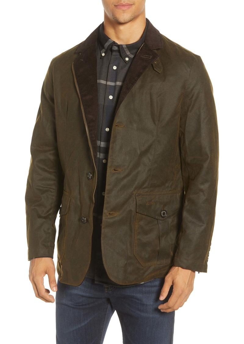 Barbour Lutz Water Resistant Waxed Cotton Jacket