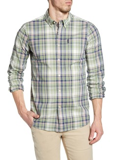 Barbour Madras 6 Tailored Fit Check Button-Up Shirt