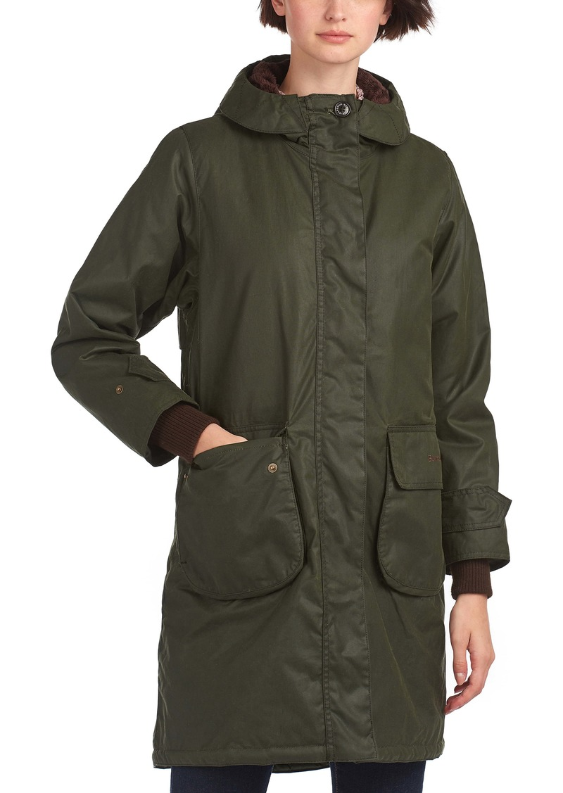Barbour Meadowsweet Waxed Cotton Hooded Raincoat