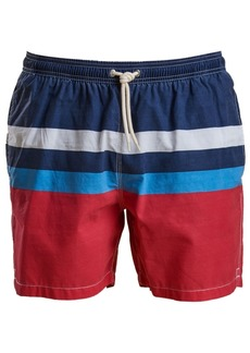 "Barbour Men's Colorblocked 5-1/2"" Swim Trunks"