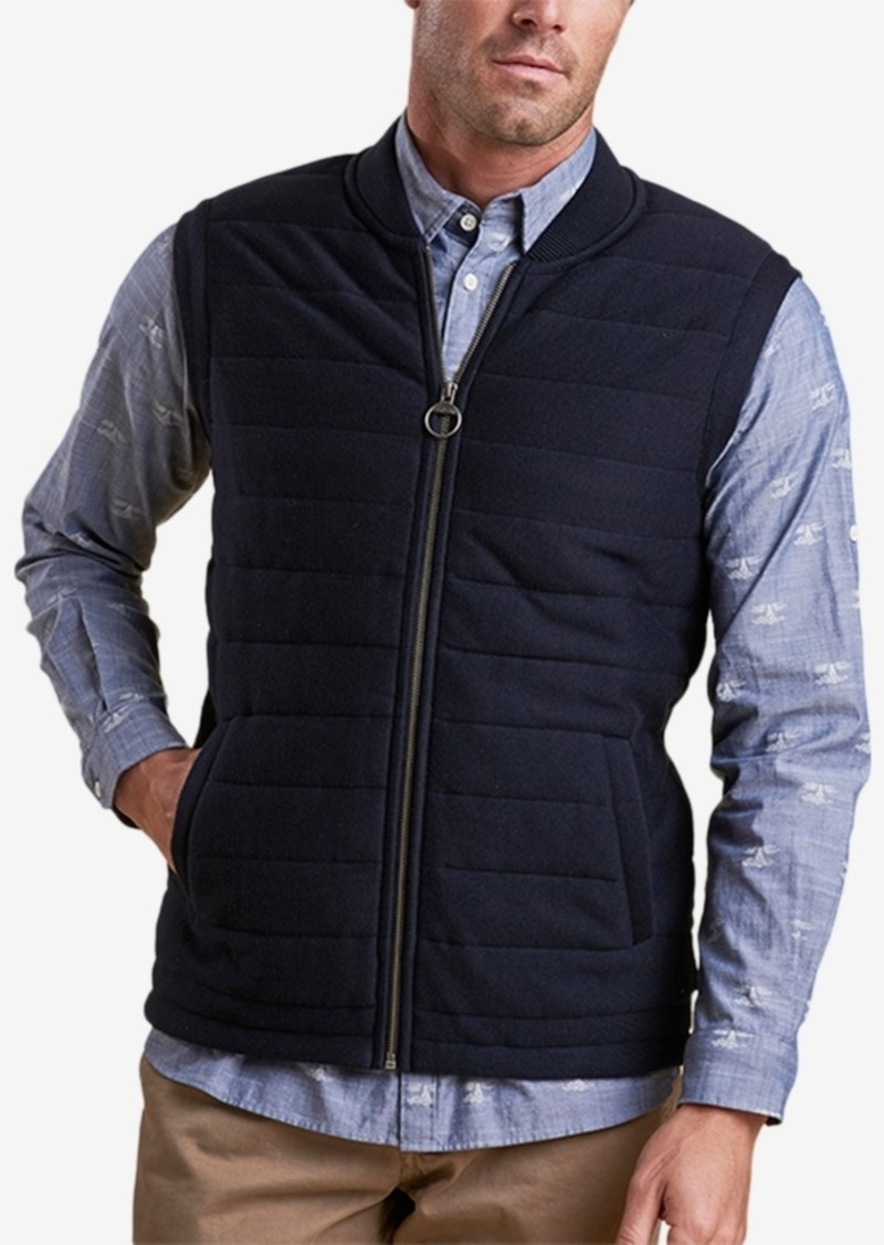 50423f49fa Barbour Barbour Men s Copeland Navy Quilted Full-Zip Gilet