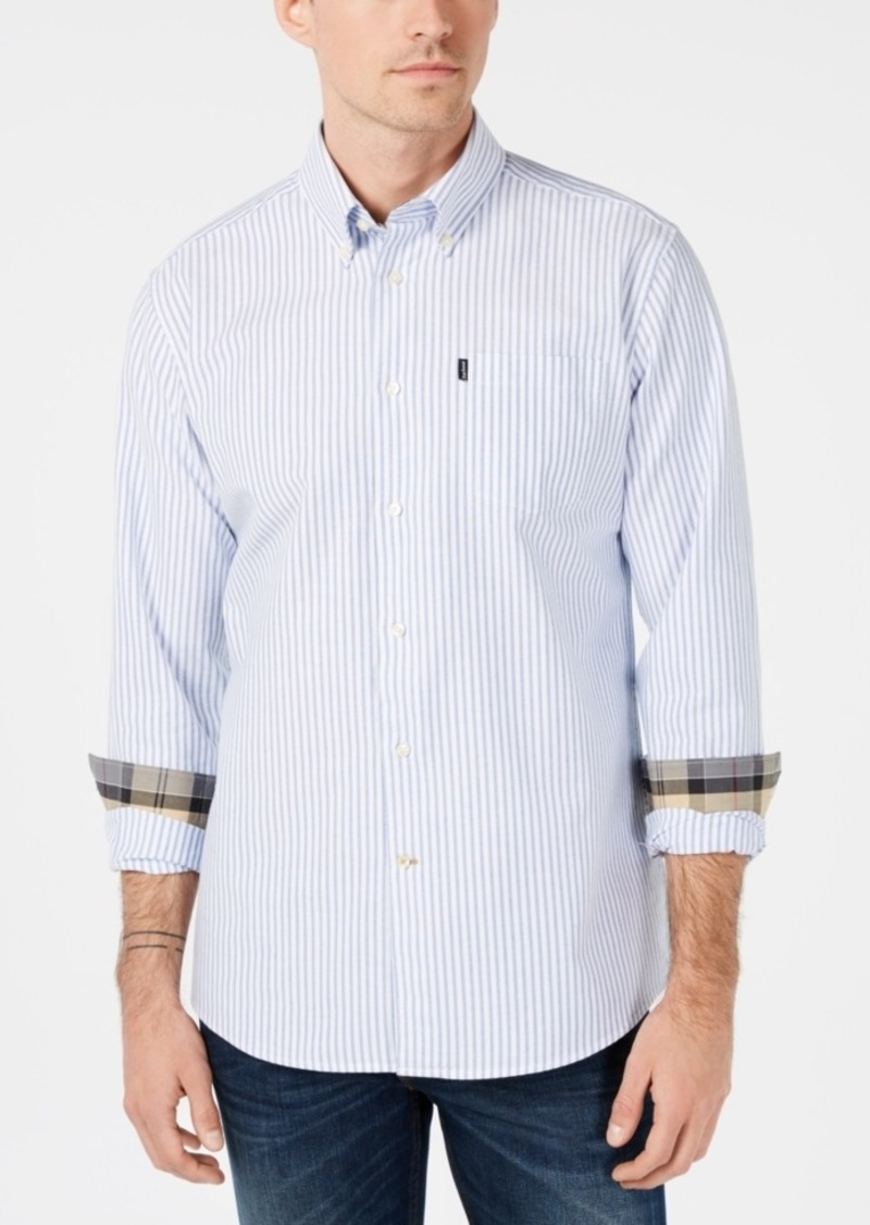 Barbour Men's Corgarff Tailored-Fit Stripe Shirt, A Sam Heughan Exclusive, Created for Macy's