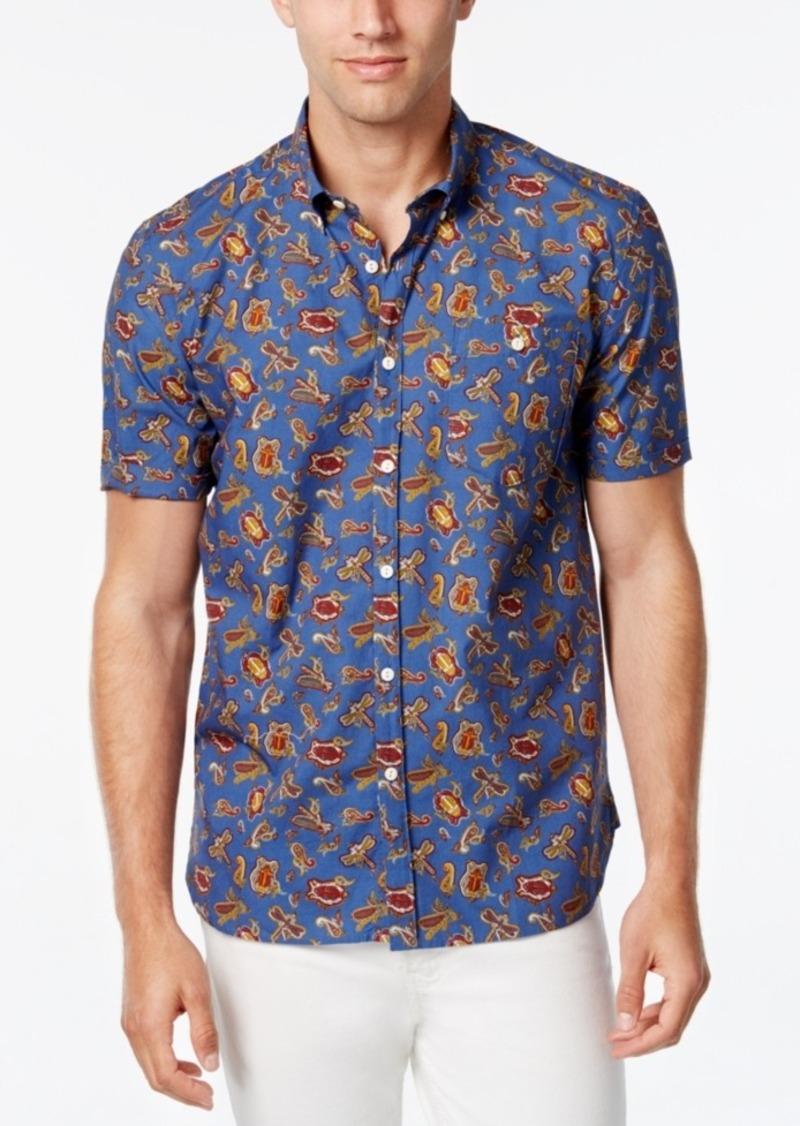 Barbour Men's Dragonfly Paisley Short-Sleeve Shirt