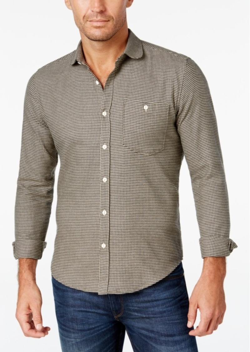 Barbour Men's Errol Mini-Houndstooth Slim Fit Long-Sleeve Shirt