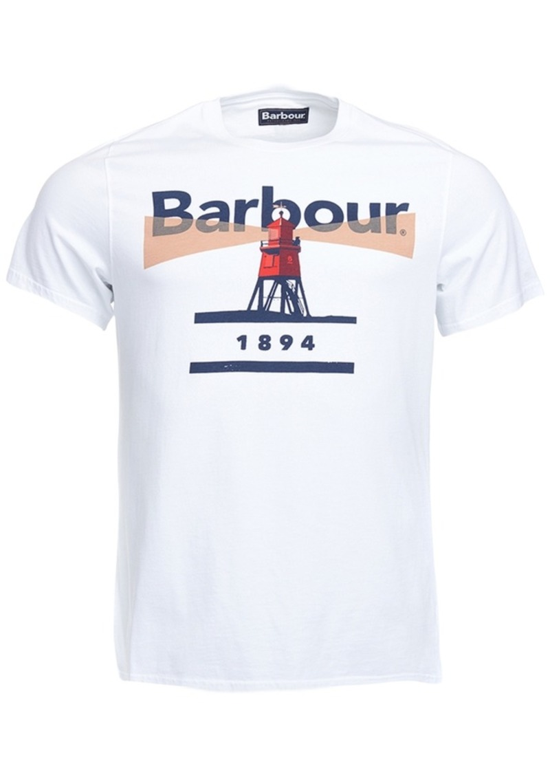 Barbour Barbour Mens Graphic Print T Shirt T Shirts