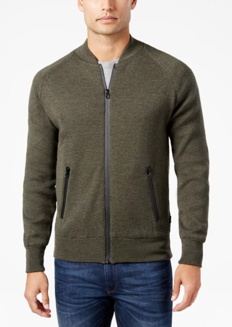 Barbour Men's Heathered Zip-Front Sweater
