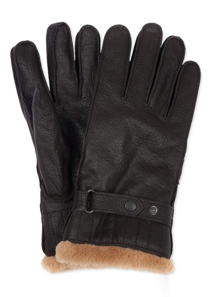 Barbour Men's Leather Utility Gloves