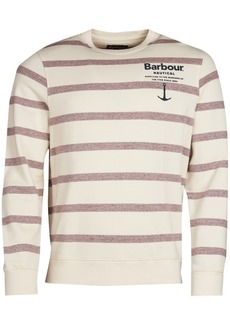 Barbour Men's Offstore Tailored-Fit Yarn-Dyed Stripe Logo Sweater