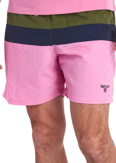 Barbour Men's Shore Colorblocked Swim Trunks